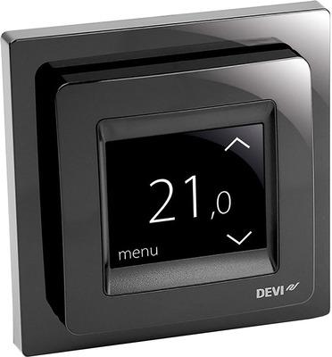 Терморегулятор Devi Touch black купить в интернет-магазине Азбука Сантехники