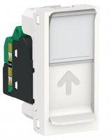 Schneider Electric Unica New Modular Белый Розетка компьютерная RJ45 одиночная кат. 5е UTP 1 модуль купить в интернет-магазине Азбука Сантехники