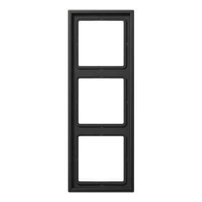 Jung LS 990 Антрацит Рамка 3-постовая купить в интернет-магазине Азбука Сантехники
