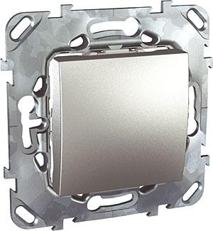 Schneider Electric Unica Top Алюминий Переключатель перекрестный 1-клавишный (схема 7) купить в интернет-магазине Азбука Сантехники