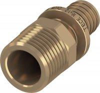 Соединение прямое с ниппелем TECE TECEflex 16 × 1/2'', бронза купить в интернет-магазине Азбука Сантехники