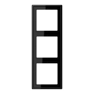 Jung LS 990 Черный Рамка 3-постовая купить в интернет-магазине Азбука Сантехники