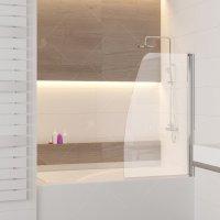 Шторка на ванну RGW Screens SC-36, 800 × 1500 мм, с прозрачным стеклом, профиль — хром купить в интернет-магазине Азбука Сантехники