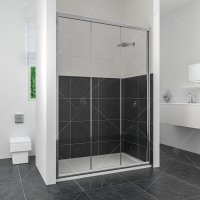 Душевая дверь RGW Classic CL-11, 1250 × 1850 мм, с прозрачным стеклом, профиль — хром купить в интернет-магазине Азбука Сантехники