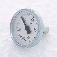 """Термометр погружной аксиальный UNI-FITT 1/2"""" 80 °C, 40 мм купить в интернет-магазине Азбука Сантехники"""