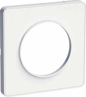 Schneider Electric Odace Белый/Белый Рамка 1 пост купить в интернет-магазине Азбука Сантехники