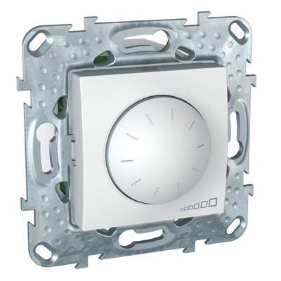 Schneider Electric Unica Белый Светорегулятор поворотный 40-1000 Вт для л/н г/л с обмоточным трансформатором купить в интернет-магазине Азбука Сантехники