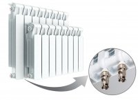 Радиатор биметаллический Rifar Monolit Ventil 350, нижнее левое подключение, 13 секций купить в интернет-магазине Азбука Сантехники