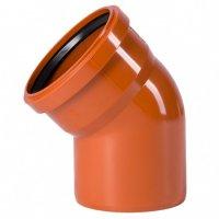 Отвод ПВХ Ostendorf Ø 110 мм × 45° для наружной канализации купить в интернет-магазине Азбука Сантехники