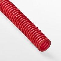 Гофра для трубы Ø 16 мм красная (50 метров)