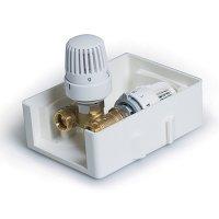TIM регулировочный короб TCB-K-RTL01 с термостатическим клапаном и ограничителем температуры обратного потока купить в интернет-магазине Азбука Сантехники