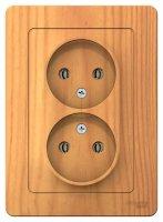 Schneider Electric Blanca Ясень Розетка двойная б/з без шторок скрытой установки 16A 250В купить в интернет-магазине Азбука Сантехники