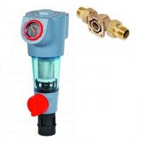 """Фильтр промывной Honeywell с манометром F74CS-1/2"""" AA, 100 мкм, для холодной воды купить в интернет-магазине Азбука Сантехники"""