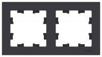 Schneider Electric AtlasDesign Карбон Рамка 2-постовая универсальная купить в интернет-магазине Азбука Сантехники
