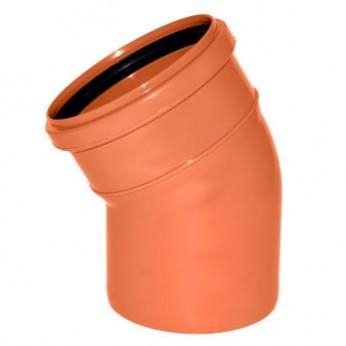 Отвод ПВХ Ø 110 мм × 15° для наружной канализации