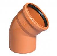 Отвод ПВХ Ø 160 мм × 30° для наружной канализации купить в интернет-магазине Азбука Сантехники