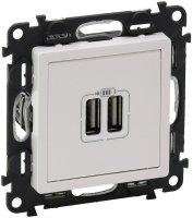 Legrand Valena Life Белый Зарядное устройство 2хUSB 1500mA купить в интернет-магазине Азбука Сантехники