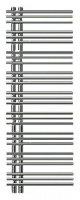 Полотенцесушитель Zehnder Yucca asymmetric YAECR-130-050/RD Chrome правый электрический купить в интернет-магазине Азбука Сантехники
