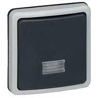 Legrand Plexo Серый Переключатель 1-клавишный 2-полюсный с подсветкой встраиваемый 10A в сборе IP66 купить в интернет-магазине Азбука Сантехники