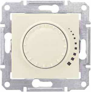 Schneider Electric Sedna Бежевый Светорегулятор поворотно-нажимной емкостной 25-325 Вт купить в интернет-магазине Азбука Сантехники
