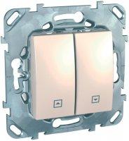 Schneider Electric Unica Бежевый Выключатель жалюзийный кнопочный купить в интернет-магазине Азбука Сантехники