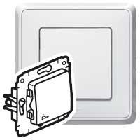 Legrand Cariva Белый Выключатель 1-клавишный 10A IP44 купить в интернет-магазине Азбука Сантехники