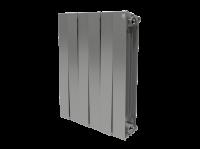 RoyalThermo PianoForte 500 Silver Satin радиатор биметаллический, 8 секций (серебристый) купить в интернет-магазине Азбука Сантехники