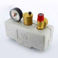 """Группа безопасности котла WATTS KSG 30 ISO 1"""" 3 бар, 100 кВт, стальная с теплоизоляцией купить в интернет-магазине Азбука Сантехники"""