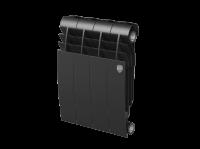 Радиатор биметаллический RoyalThermo Biliner 350 VD с нижним подключением, Noir Sable черный графитовый, 4 секции купить в интернет-магазине Азбука Сантехники
