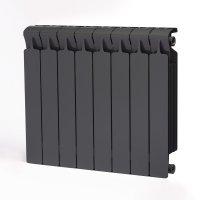 Радиатор биметаллический RIFAR Monolit 500, боковое подключение, 8 секций, титан (RAL 7012 серый) купить в интернет-магазине Азбука Сантехники