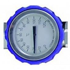 """Кран шаровой HANSA 1"""" НР × 1"""" ВР с термометром, синий купить в интернет-магазине Азбука Сантехники"""