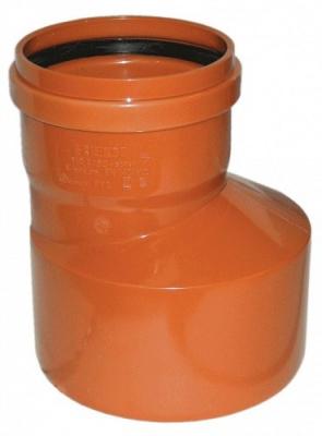 Переход эксцентрический ПВХ Ø 200 × 110 мм для наружной канализации купить в интернет-магазине Азбука Сантехники