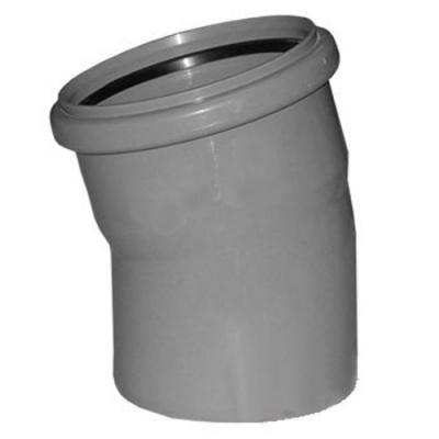 Отвод Политэк Ø 110 мм × 15° полипропиленовый серый купить в интернет-магазине Азбука Сантехники