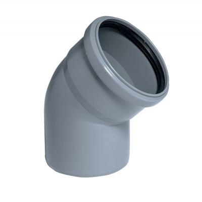 Отвод Политэк Ø 110 мм × 45° полипропиленовый серый купить в интернет-магазине Азбука Сантехники