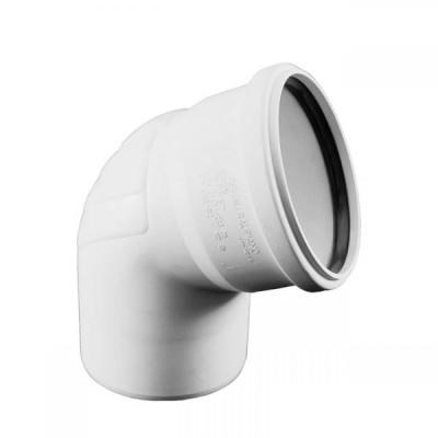Отвод Rehau Raupiano Plus Ø 50 мм × 67° купить в интернет-магазине Азбука Сантехники