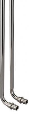 Трубка Г-образная Uponor Wirsbo Q&E Ø 16 × 300 мм для подключения радиатора, медная никелированная купить в интернет-магазине Азбука Сантехники