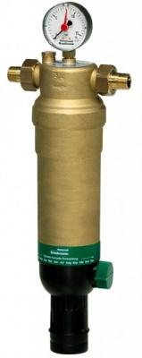 """Фильтр промывной Honeywell с манометром F76S-1/2"""" AAM, 100 мкм, для холодной воды купить в интернет-магазине Азбука Сантехники"""