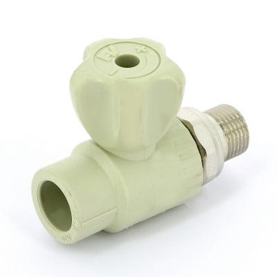 """Кран для радиаторов шаровой FV-plast Ø 20 мм × 1/2"""" сварка-Н с разъемным соединением купить в интернет-магазине Азбука Сантехники"""