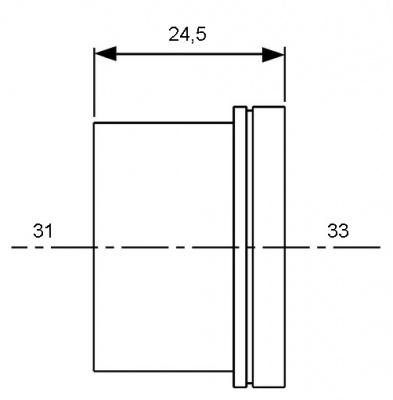 Гильза для труб PE-Xc, PE-MDXc Ø 25 мм, TECE TECEflex (704025) купить в интернет-магазине Азбука Сантехники
