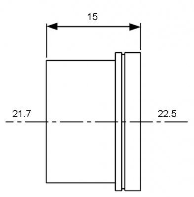 Гильза для трубы PE-Xc/Al/PE Ø 16 мм, TECE TECEflex (734516) купить в интернет-магазине Азбука Сантехники
