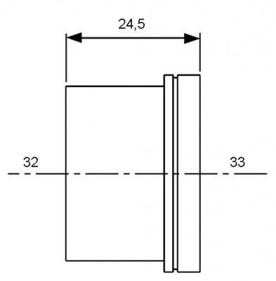 Гильза для трубы PE-Xc/Al/PE Ø 25 мм, TECE TECEflex (734525) купить в интернет-магазине Азбука Сантехники