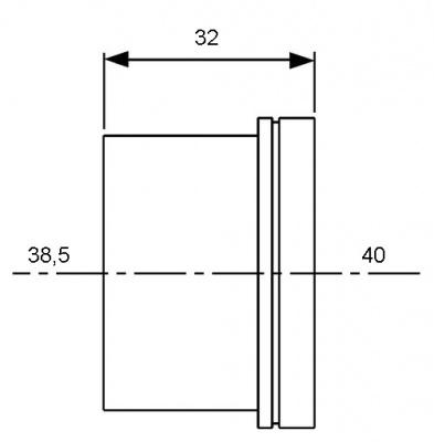 Гильза для трубы PE-Xc/Al/PE Ø 32 мм, TECE TECEflex (734532) купить в интернет-магазине Азбука Сантехники