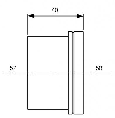 Гильза для трубы PE-Xc/Al/PE Ø 50 мм, TECE TECEflex (734550) купить в интернет-магазине Азбука Сантехники