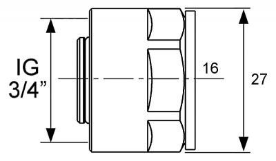 """Резьбозажимное соединение Ø 16 мм × 3/4"""" для труб PE-Xc/Al/PE, TECE TECEflex (713316) купить в интернет-магазине Азбука Сантехники"""