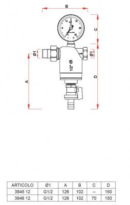 """Фильтр FAR 1/2"""" НР-BР, 300 мкм, max 95 °C, 25 бар купить в интернет-магазине Азбука Сантехники"""