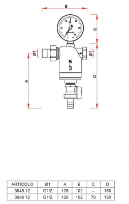 """Фильтр FAR 1/2"""" НР-BР, 100 мкм, max 95 °C, 25 бар купить в интернет-магазине Азбука Сантехники"""