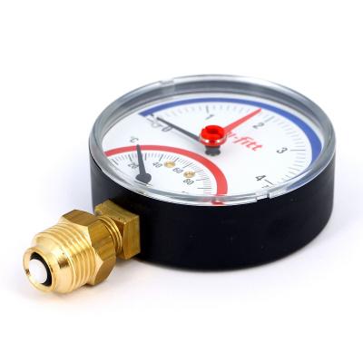 """Термоманометр радиальный UNI-FITT 1/2"""" 4 бар, 80 мм купить в интернет-магазине Азбука Сантехники"""