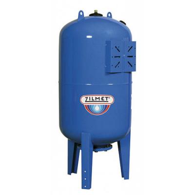 Zilmet ULTRA-PRO - 100 л гидроаккумулятор вертикальный синий (PN25, мембрана бутил, фланец стальной) купить в интернет-магазине Азбука Сантехники