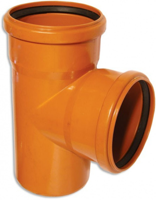 Тройник ПВХ Ø 160 × 110 мм × 87° для наружной канализации купить в интернет-магазине Азбука Сантехники