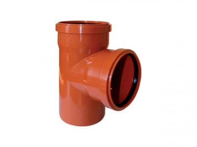Тройник ПВХ Ø 200 × 160 мм × 90° для наружной канализации купить в интернет-магазине Азбука Сантехники